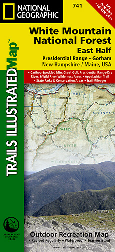 National Geographic Trail Map Two Pack for White Mountains National Park